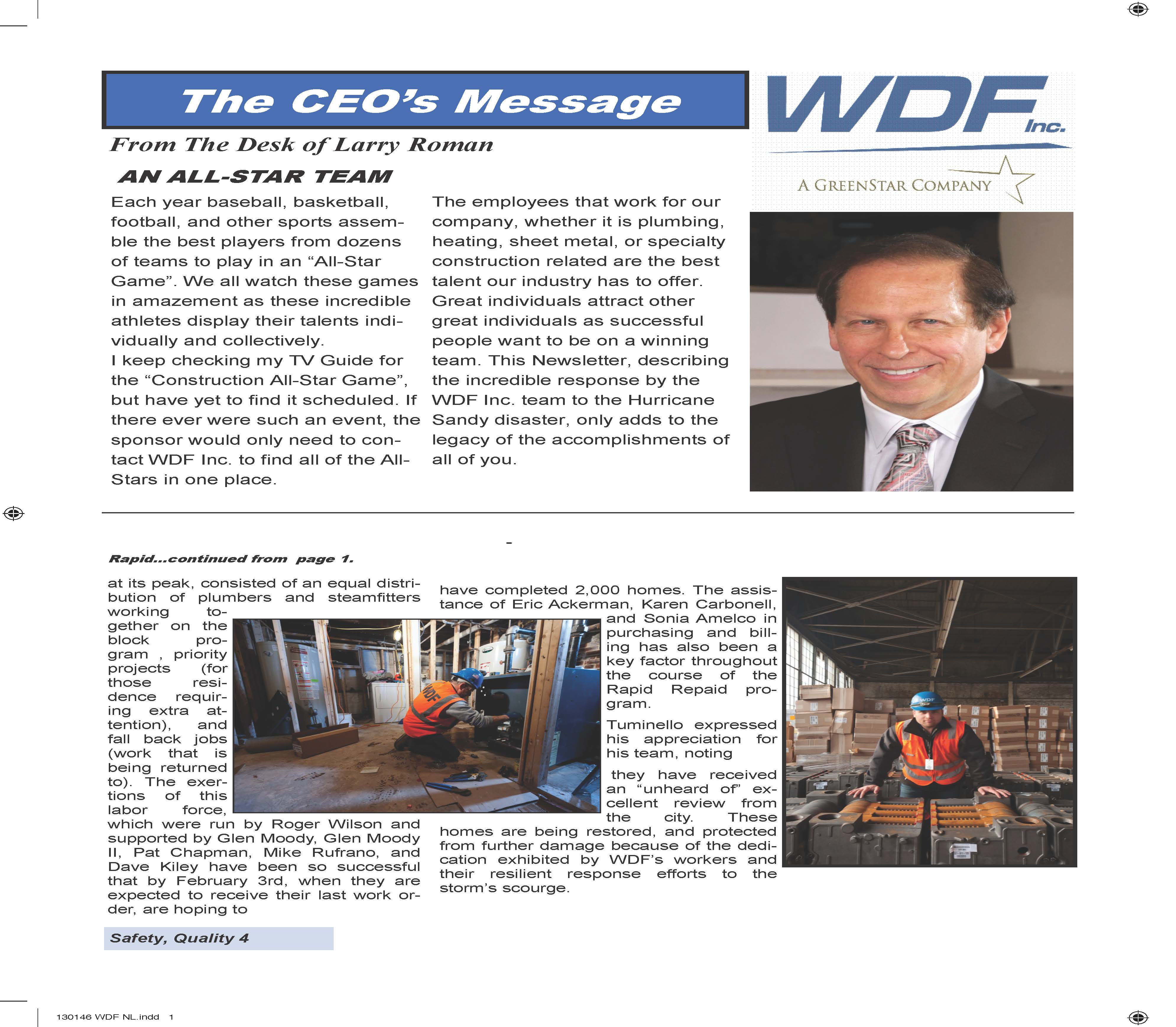 wdf inc new projects dom tower newsletter 376kb hofstra university honors larry r and joe locurto at golf fundraiser